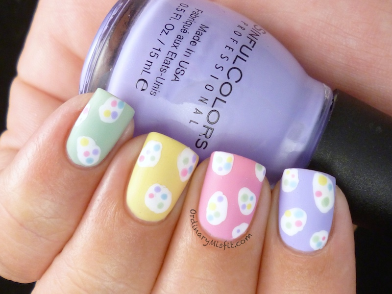 Easter Speckled Eggs nail art