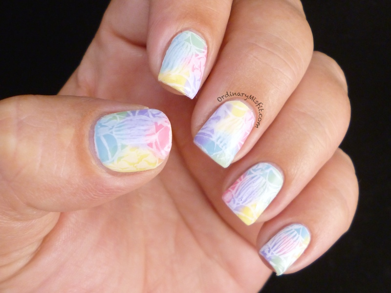 Easter painted eggs nail art 5