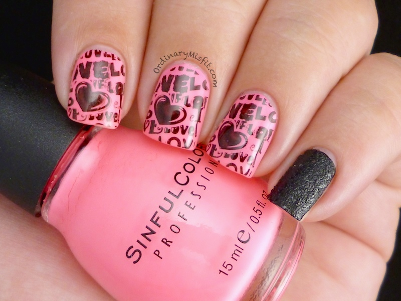 Neon & black grafitti nail art  3