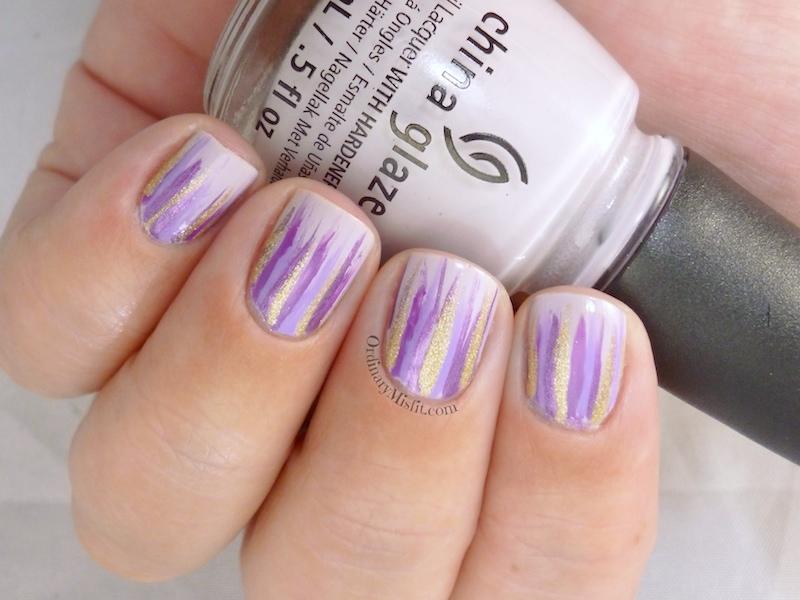 Lilac waterfall