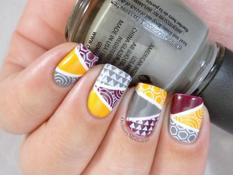 Geometric nail art 2