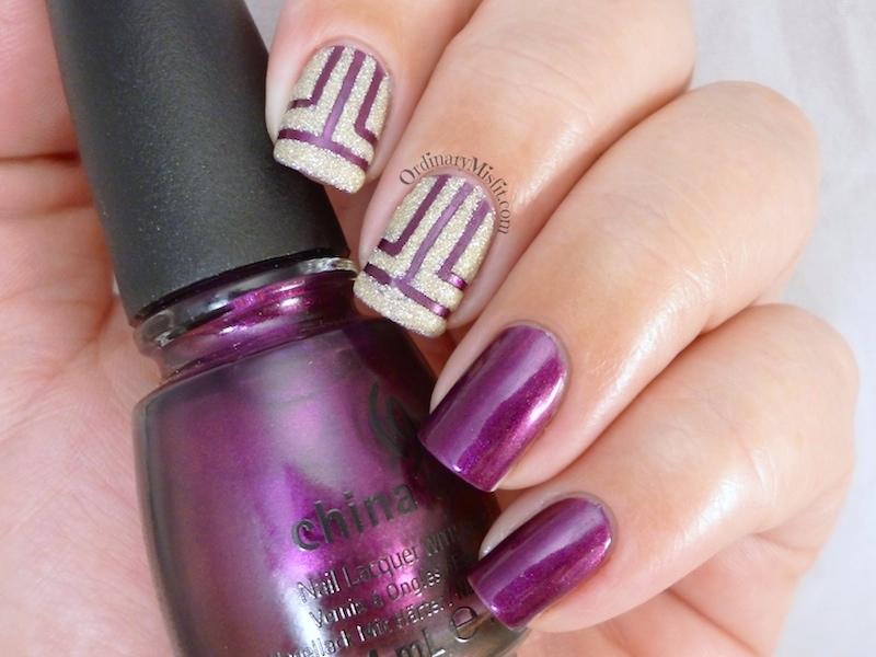 Geometric texture nail art 3