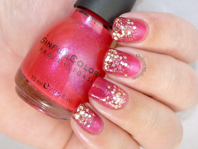 Pink and Gold glitter gradient