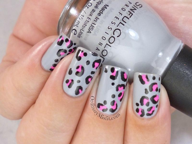 Leopard print nail art 2
