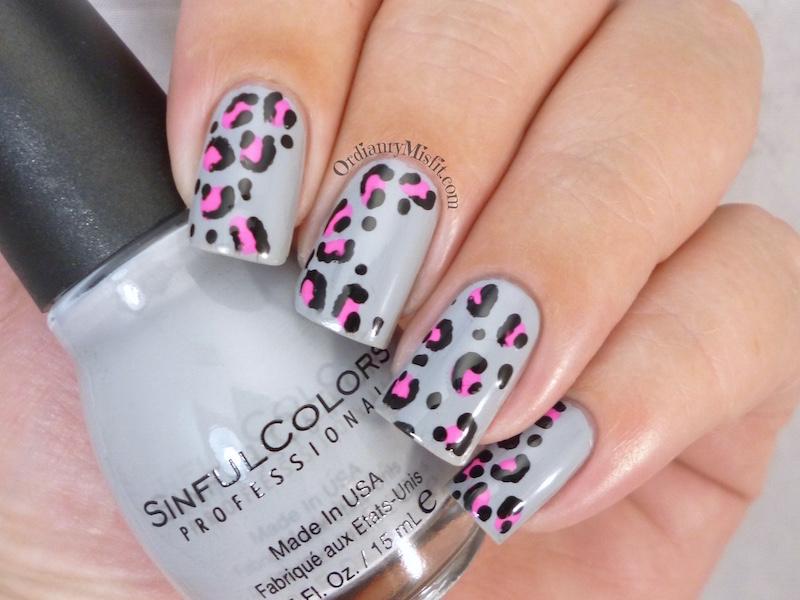 Leopard print nail art 3