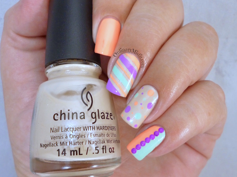Nail Anarchy January challenge - Summer skittle 4