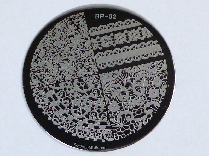 Born Pretty Store plate BP-02 2
