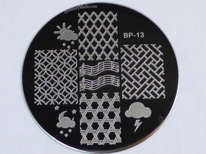 Born Pretty Store plate BP-13