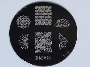Bundle Monster 'Create Your Own' 2014 stamping plates BM616