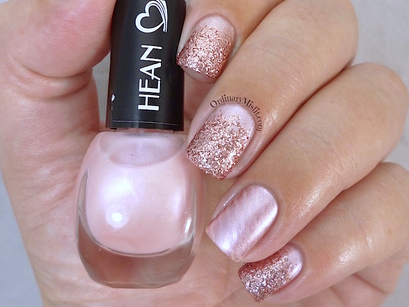 Hean I love Hean collection #411 with nail art 3