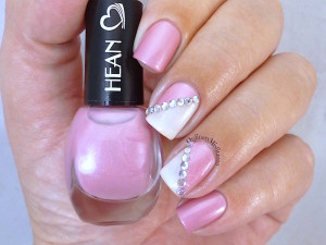 Hean I love Hean collection #412 with nail art
