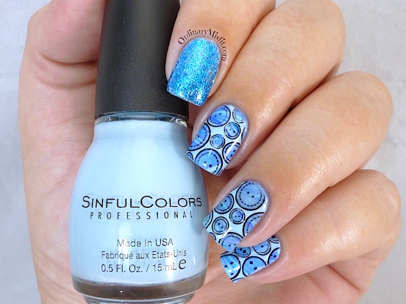March Nail Anarchy challenge – Blue   OrdinaryMisfit