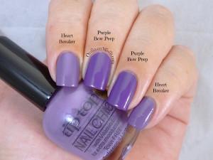 Comparison - Tip Top - Heart breaker vs Tip Top - Purple bow peep
