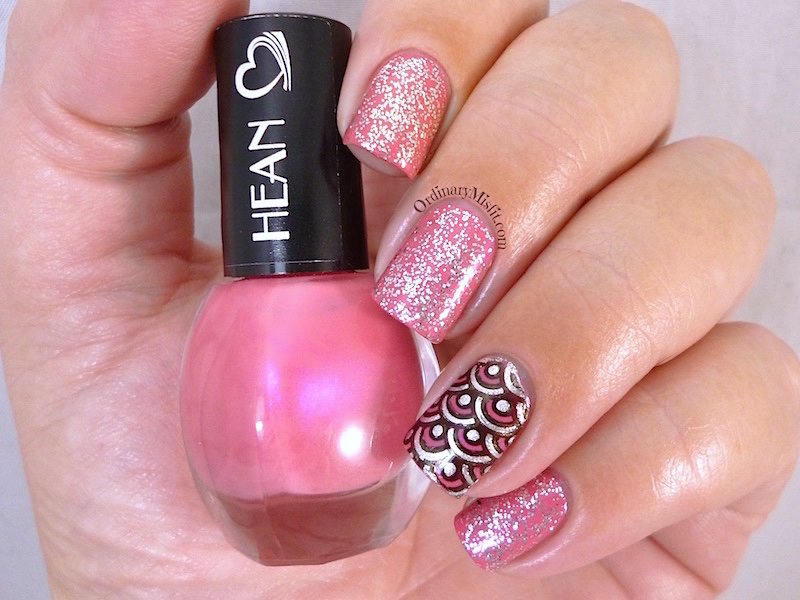 Hean I love Hean collection #807 with nail art 3