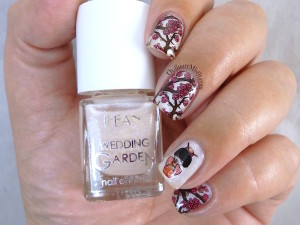 Hean Wedding Garden collection #637 with nail art