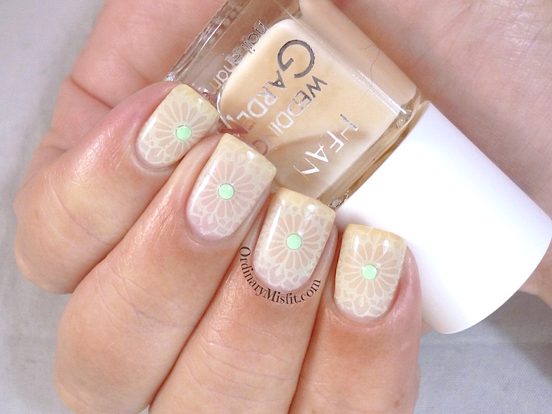 Hean Wedding Garden collection #639 with nail art