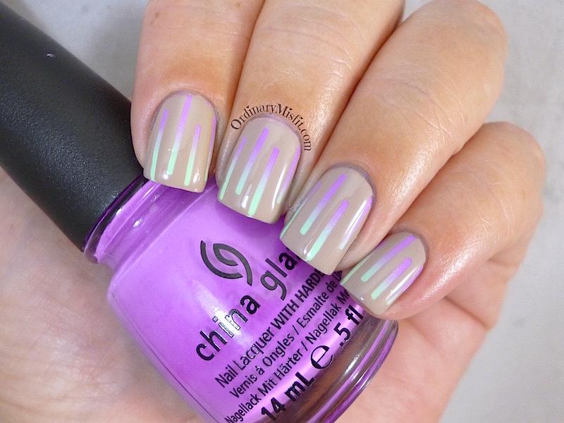 Nude & neon gradient stripes | OrdinaryMisfit