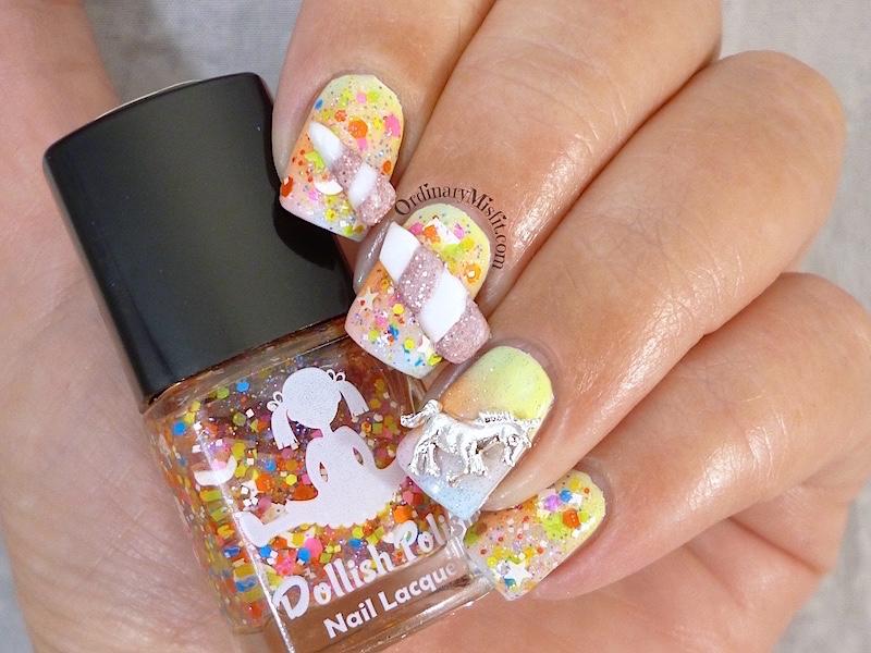 #PPSANailChallenge Unicorn nail art 3