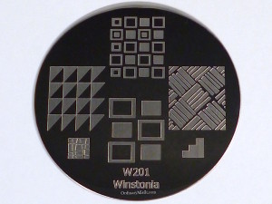 Winstonia stamping plate W201