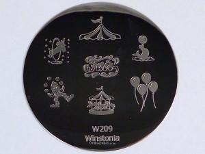 Winstonia stamping plate W209