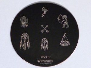 Winstonia stamping plate W213