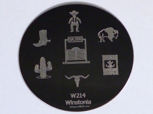 Winstonia stamping plate W214