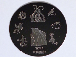 Winstonia stamping plate W217