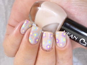 Hean I love Hean collection #407 with nail art 2