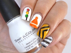 #PPSANailChallenge Traffic nail art
