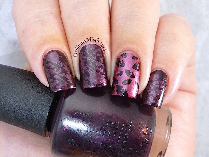 #PPSANailChallenge dark and vampy nail art