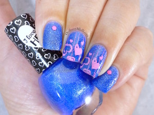 Hean I love Hean Sugar collection #854 with nail art