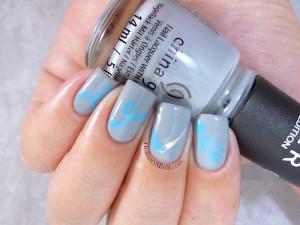 #PPSANailChallenge Needle marble nail art