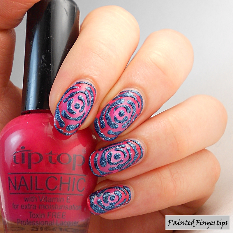 blue-rose-nails