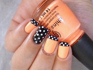 31DC2015 Day 2 Orange nails