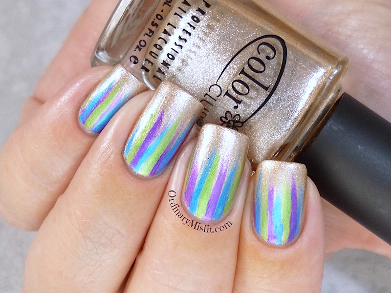 31DC2015 Day 8 metallic nails