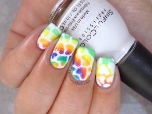 31DC2015 Day 9 rainbow nails