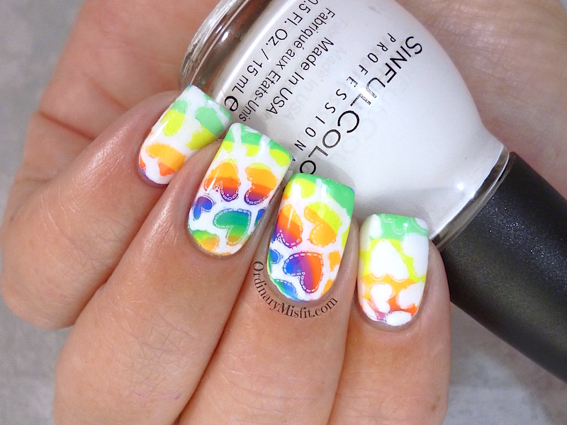 31DC2015 Day 9 rainbow nails