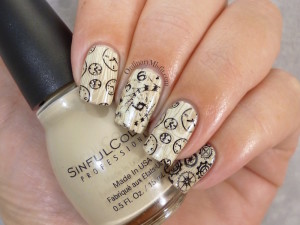 Jord maple fieldcrest watch nail art