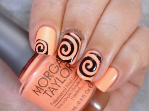 We heart nail art swirl vinyls