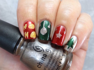 One month to christmas nail art