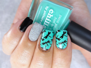BornPrettyStore stamping plate BP-74 with nail art