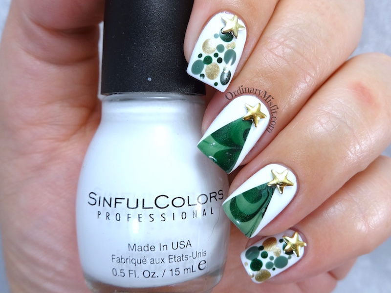 NailLinkup Oh Christmas Tree nail art