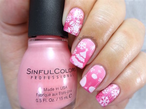 NailLinkup Pink Christmas