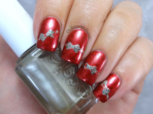 NailLinkup Wrap all the presents nail art