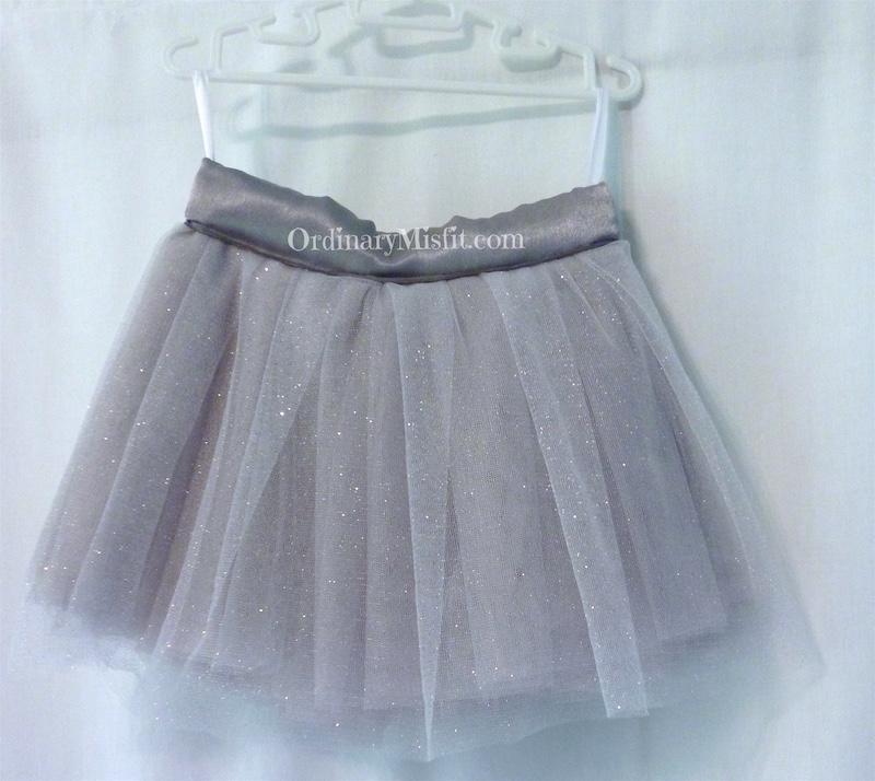 Kids silver : grey tutu