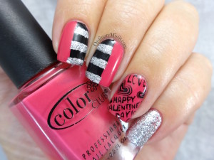 NAILLinkup Feb Valentines day nail art