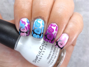 NailLinkup Feb Candyland nail art