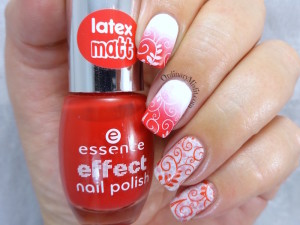 NailLinkup Feb red and white nail art