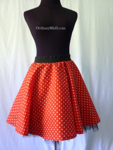 Red retro skirt