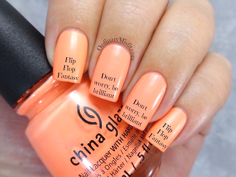 Comparison: China Glaze – Flip flop fantasy vs Morgan Taylor – Don\'t ...